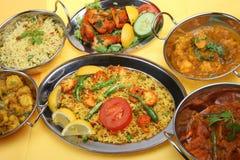 Indisches Curry-Nahrungsmittelmahlzeit-Abendessen Stockbild