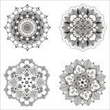 Indisches dekoratives Muster des Vektors Stockbild