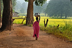 Indisches Dorf Stockfotografie