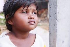 Indisches Dorf-kleines Mädchen stockfoto