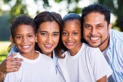 Indisches Familienporträt Lizenzfreie Stockbilder