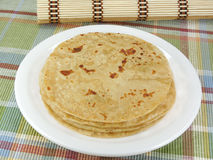 Indisches flaches Brot Stockfotografie