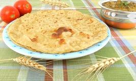 Indisches flaches Brot Lizenzfreie Stockbilder