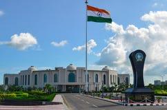 Indisches Flaggenstudentenleben lizenzfreies stockbild