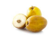 Indisches Frucht Ziziphus mauritiana (indische Brustbeeren) Stockfotos