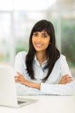 Indisches Geschäftsfraubüro stockbild