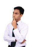 Indisches Geschäftsmanndenken.   Stockbild
