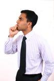 Indisches Geschäftsmanndenken. Lizenzfreie Stockbilder
