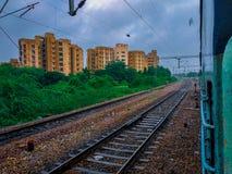 Indisches Gleis stockfoto