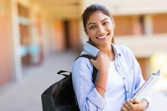 Indisches Hochschulmädchen Lizenzfreies Stockfoto