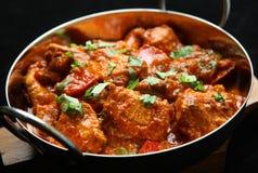 Indisches Huhn-Jalfrezi-Curry-Lebensmittel stockbild