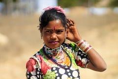 Indisches junges Stammes- Mädchen Lizenzfreies Stockfoto