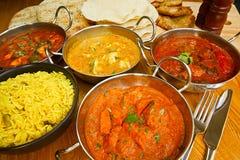 Indisches Küchebuffet Stockbild