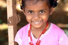 Indisches kleines Dorf-Mädchen Stockbild