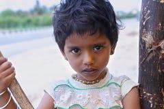 Indisches kleines Mädchen stockbilder
