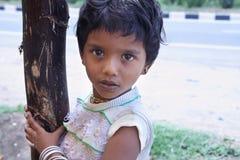 Indisches kleines Mädchen stockfotos