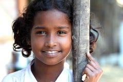 Indisches landwirtschaftliches Mädchen Stockbild