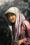 Indisches landwirtschaftliches Mädchen Stockfoto