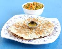 Indisches Lebensmittel Dosa Lizenzfreies Stockfoto