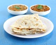Indisches Lebensmittel Naan Stockfoto