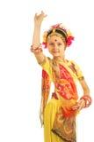 Indisches Mädchen, das Tanz durchführt lizenzfreies stockfoto