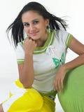 Indisches Mädchen im modernen Kostüm stockfotos