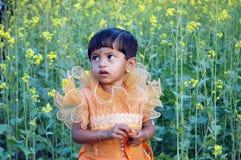 Indisches Mädchenkind. Lizenzfreie Stockfotos