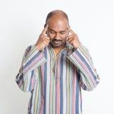 Indisches Mann-Denken Stockfotos