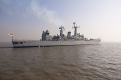 Indisches Marine-Kriegsschiff Stockfotografie