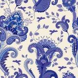 Indisches Motiv Ethnische dekorative Tapete Große dekorative Blumen Vector Abbildung, eps10, enthält Transparenz, Steigungen und  stock abbildung