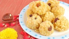 Indisches süßes Laddu Stockfotos