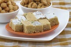 Indisches süßes Lebensmittel Stockfotos