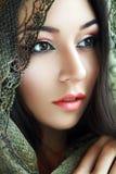 Indisches Schönheitsgesicht lizenzfreie stockfotos