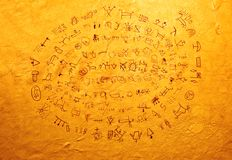 Indisches Schreiben Stockfotos