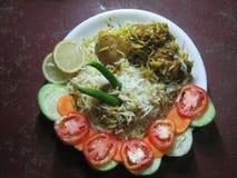Indisches spezielles Teller briyani Lizenzfreies Stockbild