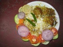 Indisches spezielles Teller briyani Lizenzfreie Stockfotos