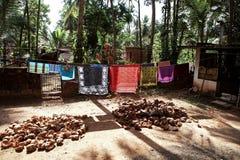 Indisches Stammdorf in Kerala, Indien Lizenzfreies Stockbild