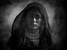 Indisches Stammes- Mädchen von Pushkar stockfotos