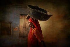 Indisches Stammes- Mädchen von Pushkar lizenzfreie stockfotografie