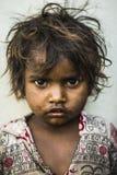 Indisches Straßenkind Stockfotos