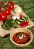 Indisches Tomatebad lizenzfreie stockfotos