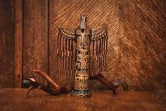 Indisches Totem in Form eines Vogels Lizenzfreie Stockbilder