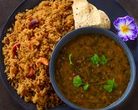 Indisches veg glutenfreie Mahlzeiten lizenzfreie stockfotos