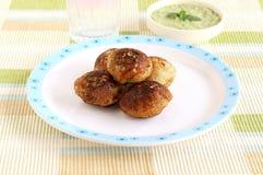 Indisches vegetarisches SüdLebensmittel Paddu Lizenzfreie Stockfotos
