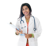 Indisches weibliches Arztporträt Lizenzfreie Stockbilder