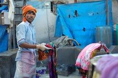indisk arbetare Arkivbild