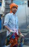 indisk arbetare Arkivfoto