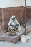 Indisk arbetare, Agra, Indien Royaltyfria Foton