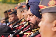 Indisk armémusikband Royaltyfria Bilder