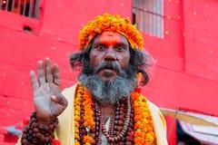 Indisk Baba (Helgedom-mannen) Arkivbilder